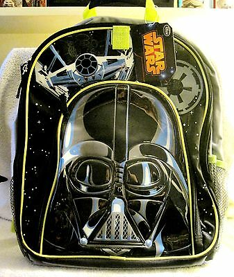 New With Tags - Star Wars - Darth Vader - Disney Store Backpack - Great Gift!!
