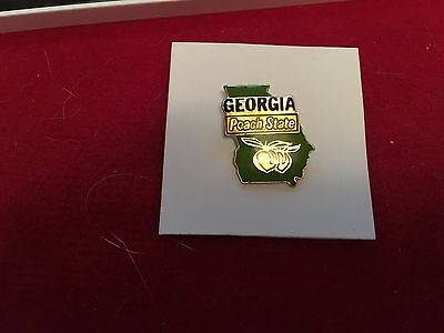 Lapel Pin The State Of Georgia  The Peach State Pin