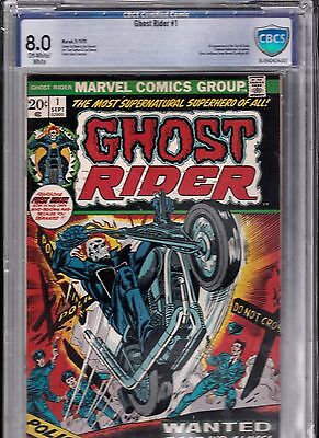 Ghost Rider #1 First apearance of Son of Satan cbcs 8.0 (Sep 1973, Marvel)