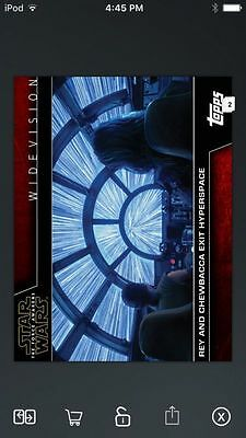 Topps Star Wars Digital Card Trader Hyperspace Widevision Insert