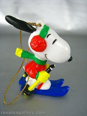 Snoopy Skiing Christmas Ornament-1999 Whitman's