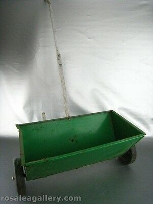 Vintage Metal Lawn Seeder-Rusted-No All Setting Work