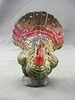 Vintage Gurley Thanksgiving Turkey Candle-Damaged