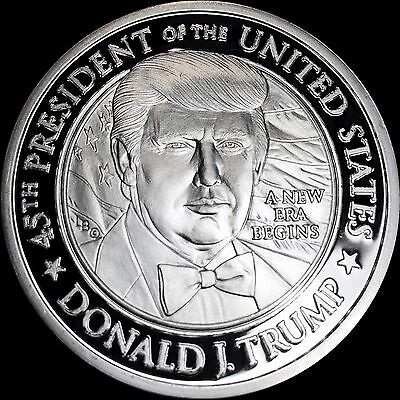 WOW WOW WOW PROOF .999 SILVER  TRUMP PRESIDENTIAL INAUGURATION COIN ONE Toz,