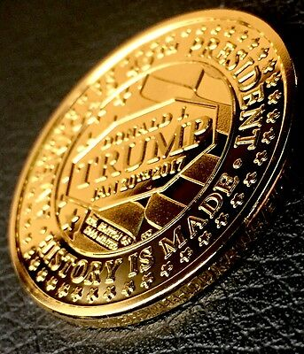 Awesome Gold 2017 Historic Trump Presidential Inauguration Coin -  Ltd Edition!!