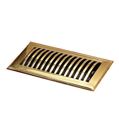 Naiture Brass Floor Register Domed Style In 12 Sizes and 7 Finishes