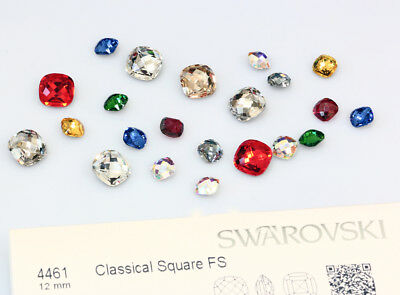 Genuine SWAROVSKI 4461 Classical Square Fancy Crystals * Many Colors & Sizes