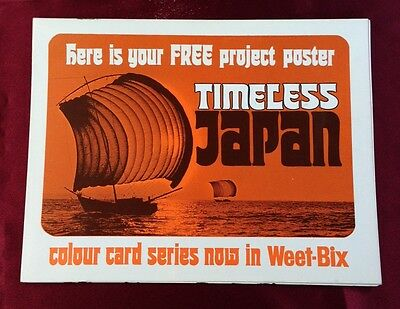 Weet-Bix Cereal Project Poster Timeless Japan From the 70's, Near Mint and rare