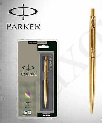 Parker Classic Gold GT Gold trim Fine Point Ball Pen - Blue Ink - New in Box