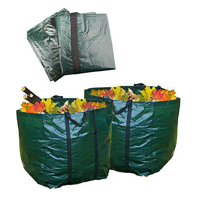 Set Of 2 Garden Waste Compost Bags Rubbish Reuse Sack Outdoor 150 Litre Capacity
