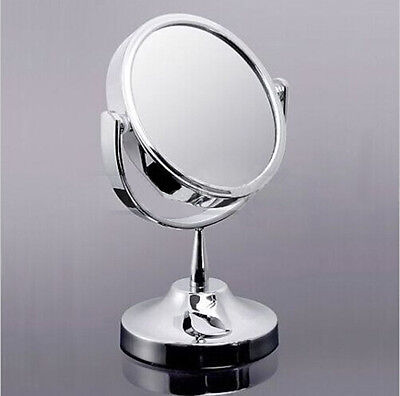 A&C Double Sided Round Table Magnifying Mirror Cosmetic Makeup Shaving Swivel hc