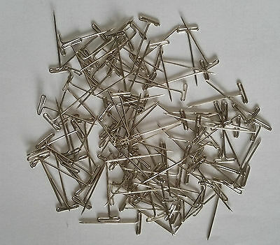 T-PINS 28mm LONG FOR MODELLING & CRAFTS x 100 PINS.