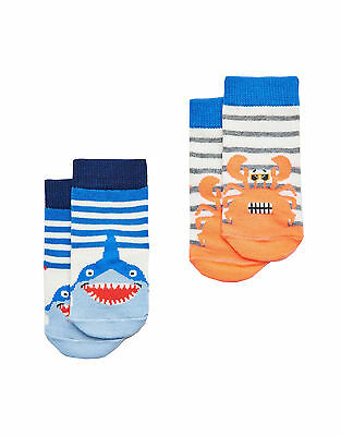 Joules Baby Boys Two Pack Socks - Coastal