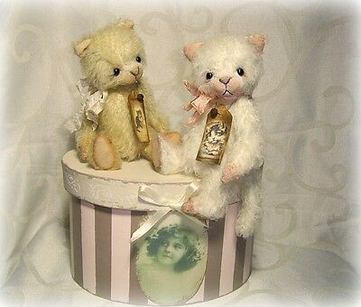Mohair Bear/ Kitten Kit White 6.5 inch