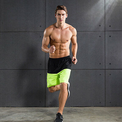 Mens Sport Basketball Bodybuilding Shorts Gym Running Fitness Workout Trousers