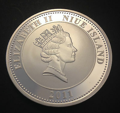 NIUE ISLAND 1 DOLLAR 1oz COIN --WILLIAM AND KATE ENGAGEMENT