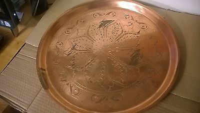 VERY Large Arts and Crafts? Copper Tray 18 Inches Diameter