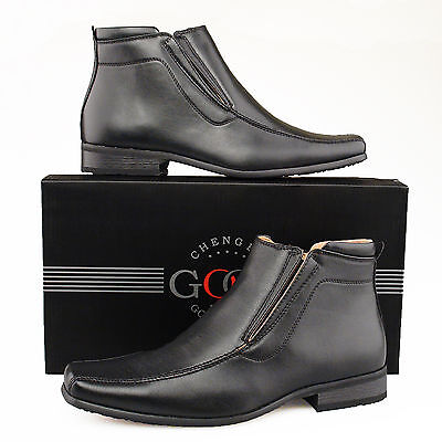 Mens New Black Leather Lined Boots Uk Sizes  6 - 12