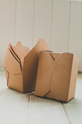 Kraft Gift Food Box, Take Out, Wedding, Kids Party, Favour, Cake, Lunch, Salad