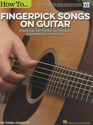 How To Fingerpick Songs on Guitar TAB Music Book with Video Patterns Techniques