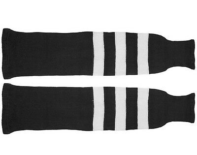 Ice or Roller Hockey Socks black and white  S, M, L size