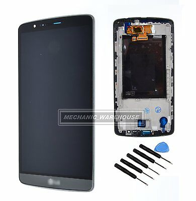 Lcd Digitizer Touch Screen Display Lens Black & Grey Frame For Lg G3 D855 D850