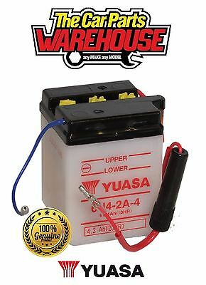 6N4-2A-4 Genuine Yuasa Motorcycle ATV Quad Buggy Battery X Without Acid Pack X