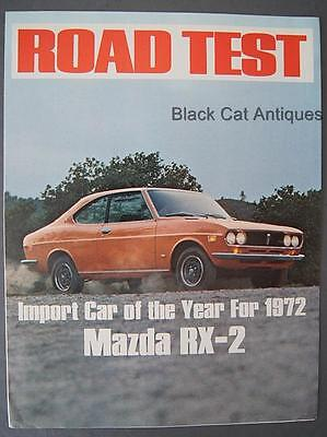 Original Road Test Fold-Out Car Brochure Mazda RX-2 Import Car Of The Year 1972