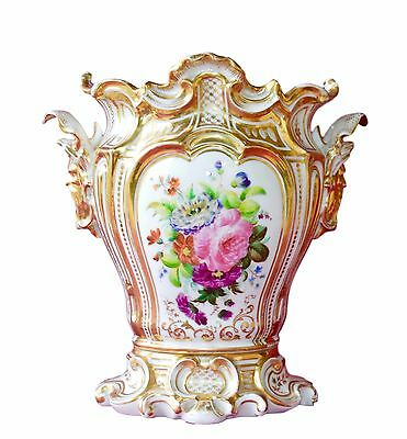 Stunning French Large c.1850 Rococo Old Paris Porcelain Vase - Hand Painted