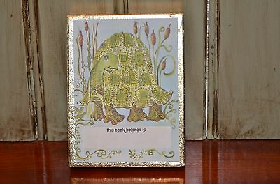 Vintage Antioch Bookplate Company Box of 49 Turtle Book Plates Made in USA