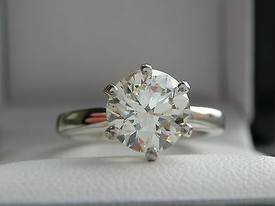 1.98ct Diamond Solitaire Ring + HIGH GRADE VS2 + 18ct Gold + Anchorcert Report