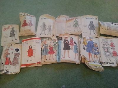Vintage Sewing Patterns job lot children girls complete very good condition!