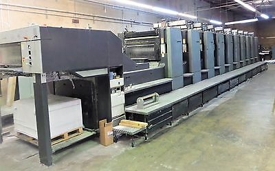"2001 Heidelberg SM102-10P, 28"" X 40"", 10 Color, ONLY 147 Million Impressions!!!"