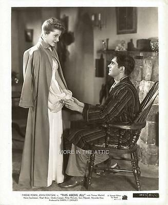 Joan Fontaine Tyrone Power This Above All Original Fox Film Still #9