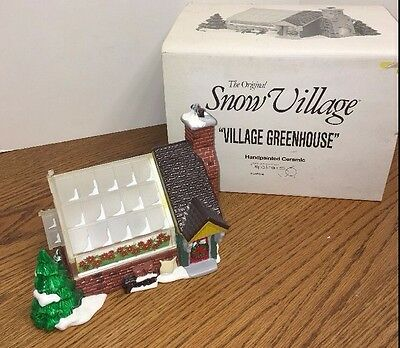 Dept 56 Snow Village VILLAGE GREENHOUSE  # 54020 retired 1995 lighted w/box