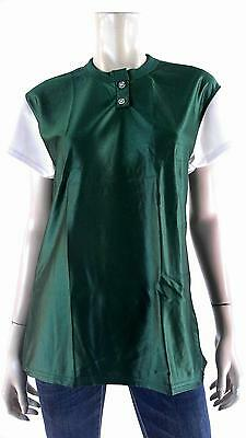 NEW Venus Unisex Baseball Softball Jersey Blank Top Sport Green