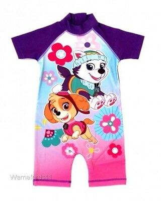 Girls PAW PATROL Surfsuit, swimming costume, swimsuit - Ages 18mths - 5yrs
