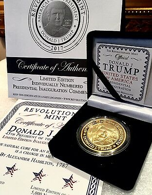 TRUMP Golden Series II 2017 Presidential Inauguration Medallion One Ounce Coin