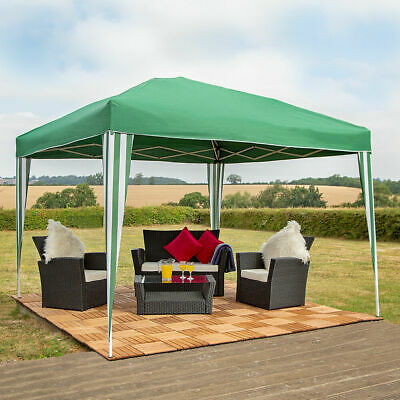 Wido 3 X 3M POP UP GREEN GAZEBO PARTY TENT WEDDING MARQUEE AWNING GARDEN OUTDOOR
