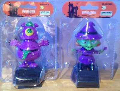Solar Dancing Halloween Witch And One Eyed Monster