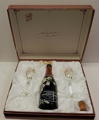 CHAMPAGNE PERRIER~JOUET Gift Set In Gorgeous Presentation Box -EMPTY BOTTLE 1979