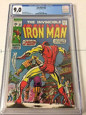 Iron Man 30 Cgc 9.0 White Pages