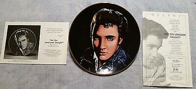 """ELVIS PRESLEY Portrait of The King """"Are You Lonesome Tonight"""" plate #2  1991"""