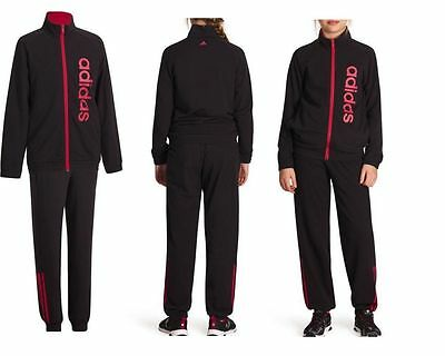 Girls Adidas Black Tracksuit 13-14 Years Cotton/Polyester New £25.99