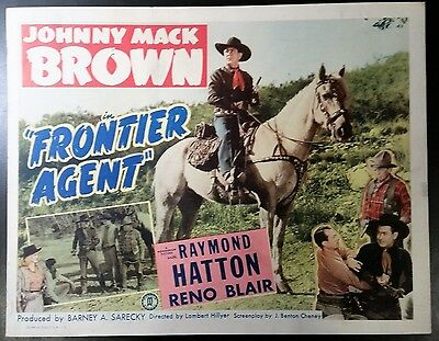 Frontier Agent  title lobby card TC  1948  Johnny Mack Brown western