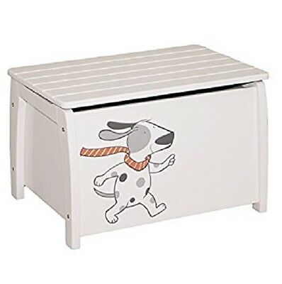 Toy storage box / bench - Roba - White - Dog Motif - New Boxed - Birthday Gift