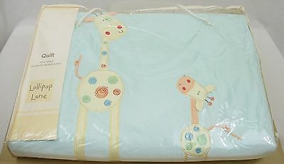 Will I Be Big Cot Quilt - Lollipop Lane - Jack The Giraffe - Baby Nursery - New