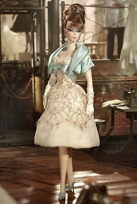 Barbie Fashion Model Collection Party Dress Silkstone Doll Gold Label Nrfb W3425