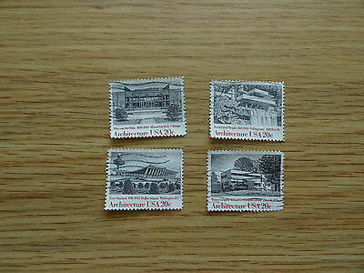 Stamps  Usa  1982 American Architecture    Set Of 4 Stamps   United States