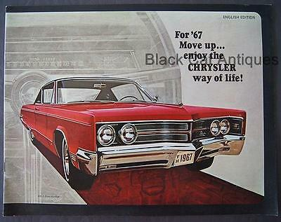 1967 Chrysler 300 New Yorker Newport Custom Town & Country Wagons Car Brochure